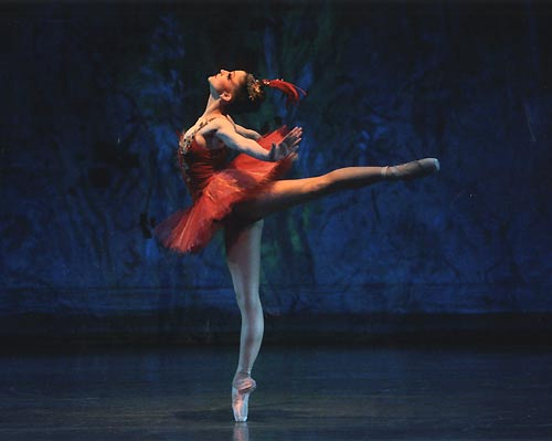 NYCBs Ashley Bouder as the Firebird. Photo by Paul Kolnik ©