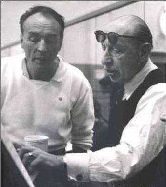 Balanchine and Stravinsky. Source: Oberons Grove. Copyright belongs to its corresponding owners.