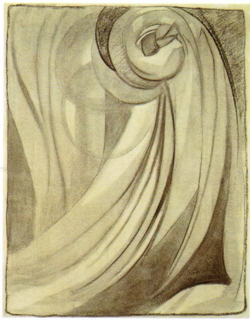 Early No_ 2_ O_Keeffe_ 1915_ charcoal on paper_ 61 x 47