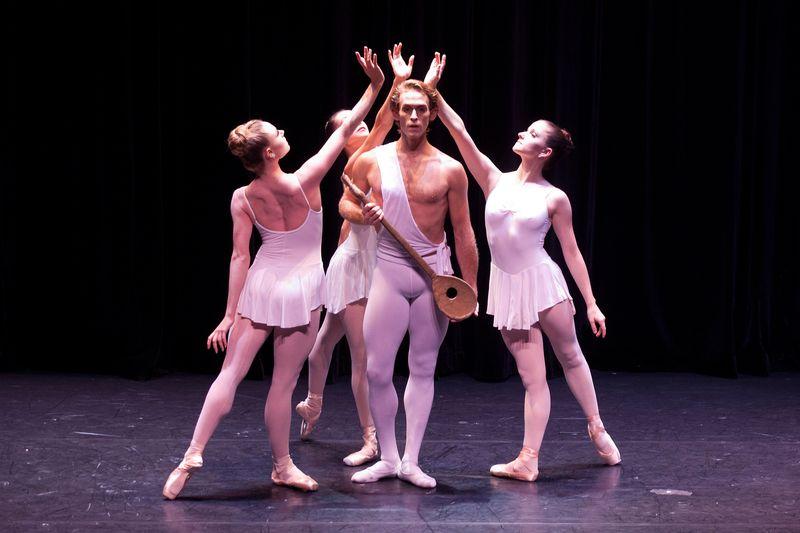 TOM GOLD DANCE  Apollo with   Sara Mearns,  Adrian Danchig Waring, Abi Stafford
