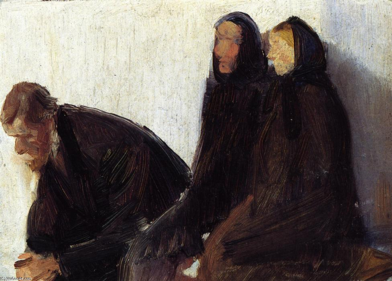 Anna-Ancher-Seated-Churchgoers