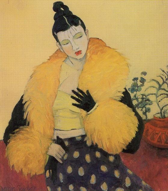 Woman With Boa ~ Joan Barber  1995