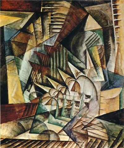 Rush Hour New York 1915  Max Weber