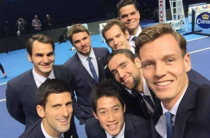Tennis selfie
