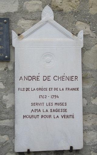 Plaque_André_Chénier _Cimetière_de_Picpus _Paris_12